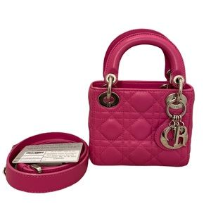 Dior Quilted Lambskin Nano Lady Dior Bag